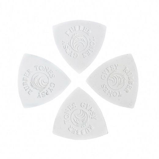 Rubber Tones Gypsy White Silicon 4 Picks